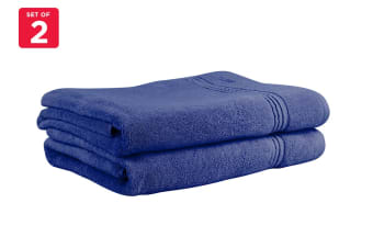 Onkaparinga Ethan 600GSM Bath Sheet Set of 2 (Denim)