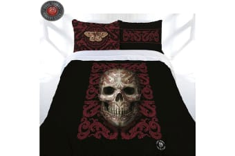 Anne Stokes Oriental Skull Quilt Cover Set King