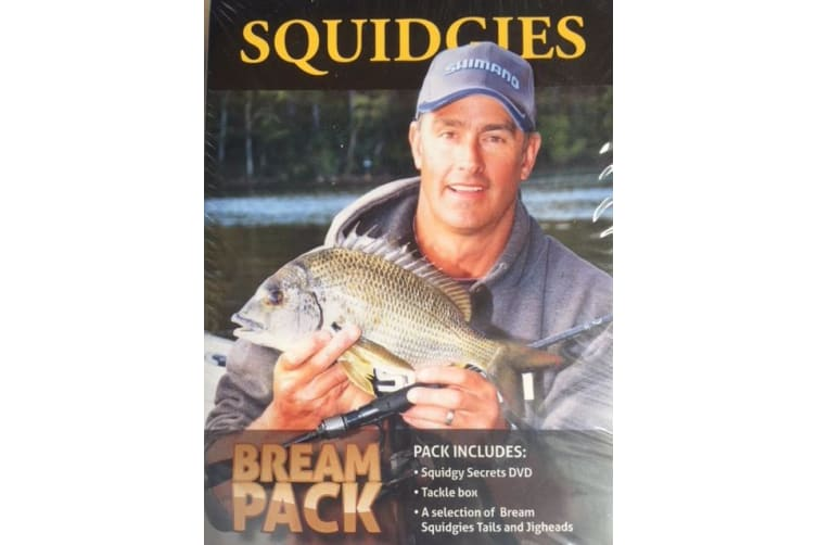 Shimano Squidgy Secrets Bream Pack With DVD, Tackle Box, Plastics and Jigheads