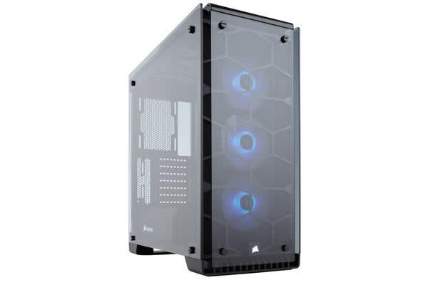 Corsair Crystal Series 570X Glass Mid Tower Case Fully Tempered ATX With 3x SP120 RGB Fan White