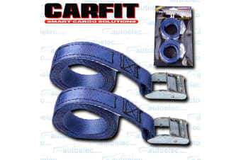 """2x 1.8 METRE 545KG CAMBUCKLE TIE DOWN STRAP STRAPS 25MM 1"""" PAIR ROOF RACK LUGGAGE"""