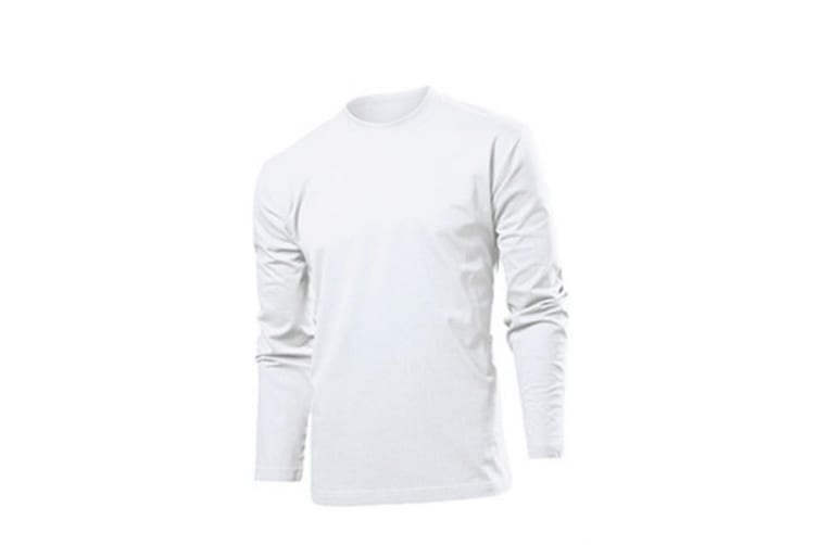 Stedman Mens Comfort Long Sleeved Tee (White) (M)