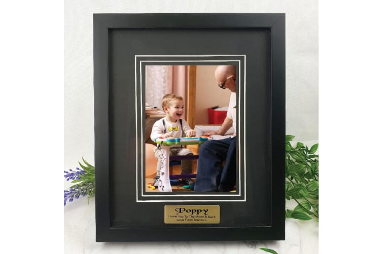 Pop Personalised Photo Frame Black Timber Verdure 5x7