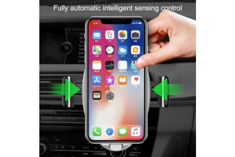 QI  Wireless Charger Vent Mount Cradle Smart Sensor to Close the Cradle Arm