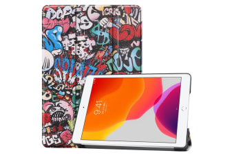 For iPad 10.2 Colored Drawing Horizontal Flip Leather Case   Smart Flip Cover Graffiti