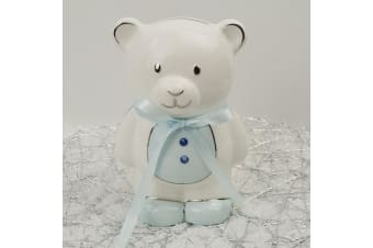 Baby Boy Teddy Money Box