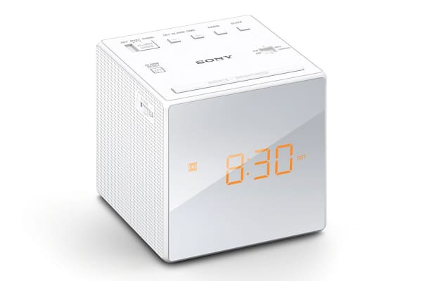 Sony Single Alarm Clock Radio - White (ICFC1W)