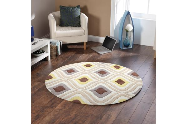 Stunning Oil Lamp Yellow Rug 200x200cm