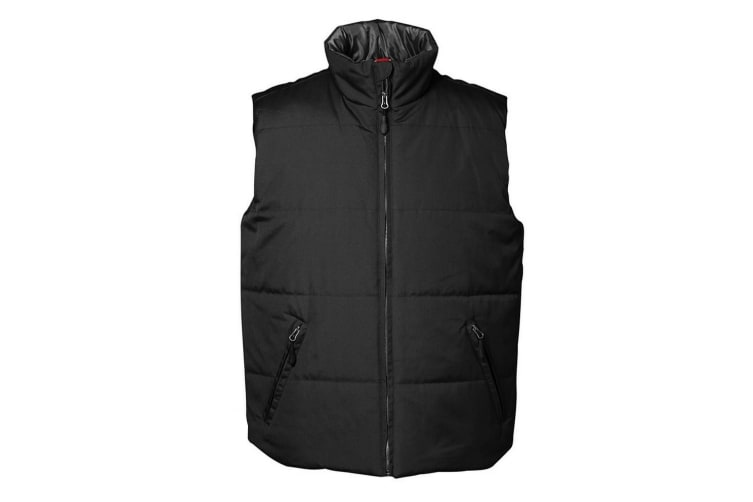 ID Mens Classic Thermal Lined Regular Fitting Sleeveless Vest/Gilet (Black) (3XL)