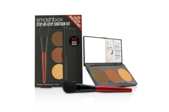 Smashbox Step By Step Contour Kit (1 x Contour Palette + 1 x Contour Brush) -Deep (Medium/Dark) 45996 11.47g