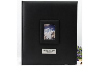 Personalised Engagement Photo Album 500 Black