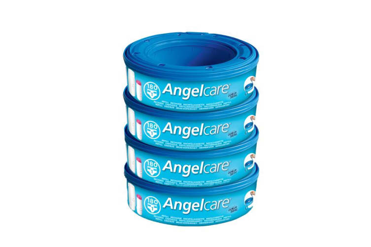 Angelcare Nappy Disposal Refill Cassettes 4-Pack - AC9004