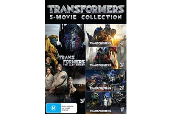 Transformers 5 Movie Collection DVD Region 4
