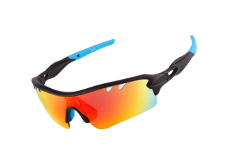 Outdoor Sports Polarizing Sunglasses Can Be Replaced By 5-Pieces Suit - 3 Blue 5Pcs
