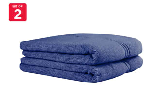 Onkaparinga Ethan 600GSM Bath Mat Set of 2 (Denim)