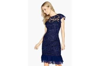 Paper Dolls Womens/Ladies Marseille Lace Dress (Navy)