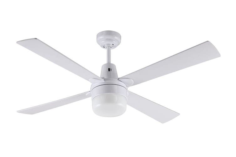 Mercator Kimberley II 1200mm Ceiling Fan with Light - White (FC132124WH)