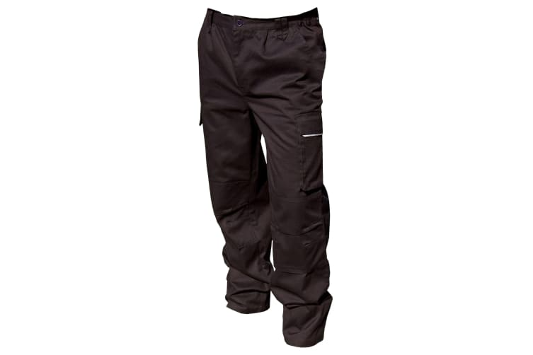 Result Unisex Work-Guard Windproof Action Trousers / Workwear (Black) (MR)
