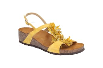 Riva Womens/Ladies Java Buckled Sling Back Sandal (Yellow)