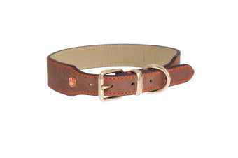 Rosewood Luxury Leather Dog Collar (Brown)
