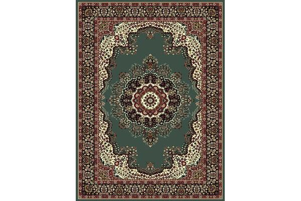 Traditional Pattern Medallion Rug Green 280x190cm
