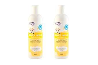 2x 250ml BabyU Natural Goat Milk Baby Shampoo All Skin Types Hair Care for Kdis