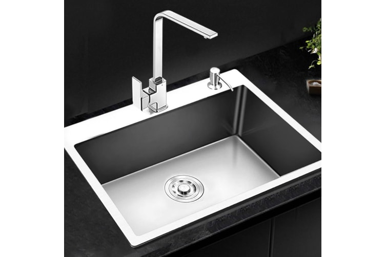 Cefito Kitchen Sink Stainless Steel SIngle Bowl Sinks Laundry Strainer 680x450MM