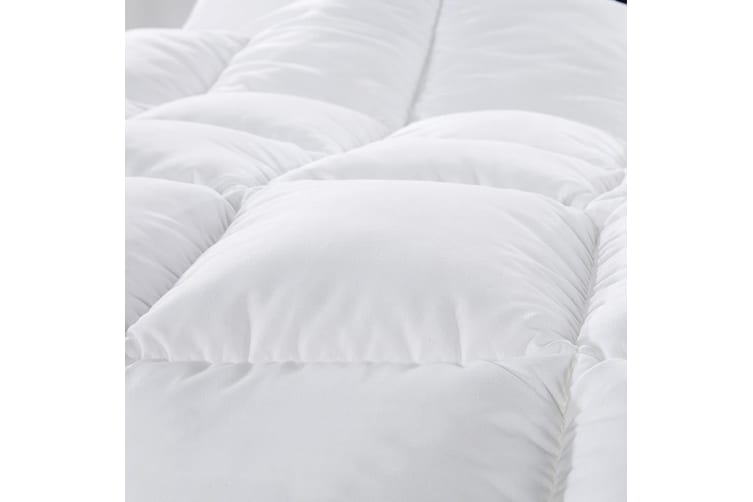 Royal Comfort 500GSM Wool Blend Quilt Premium Hotel Grade with 100% Cotton Cover - Double - White