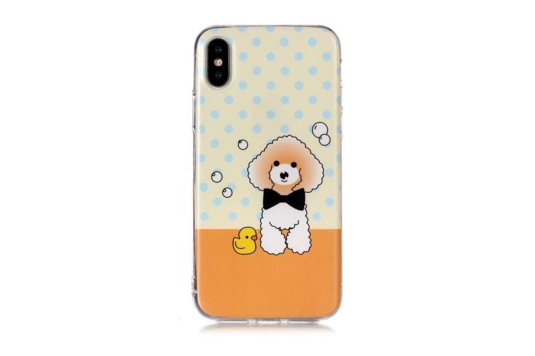 For iPhone XS Max Case Cartoon Dog TPU Protective Back Cover