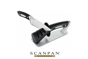 New SCANPAN Classic Pull Thru Classic 3 Stage Step Knife Sharpener Genuine Save!