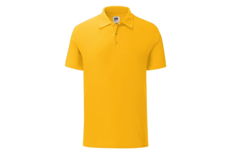 Fruit Of The Loom Mens Iconic Pique Polo Shirt (Sunflower Yellow) (S)