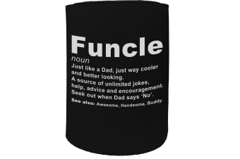 123t Stubby Holder - Funcle Noun Cool Funny Family - Funny Novelty