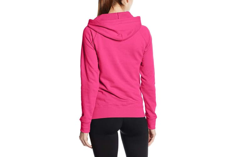 Fruit Of The Loom Ladies Fitted Lightweight Hooded Sweatshirt / Hoodie (240 GSM) (Fuchsia) (2XL)