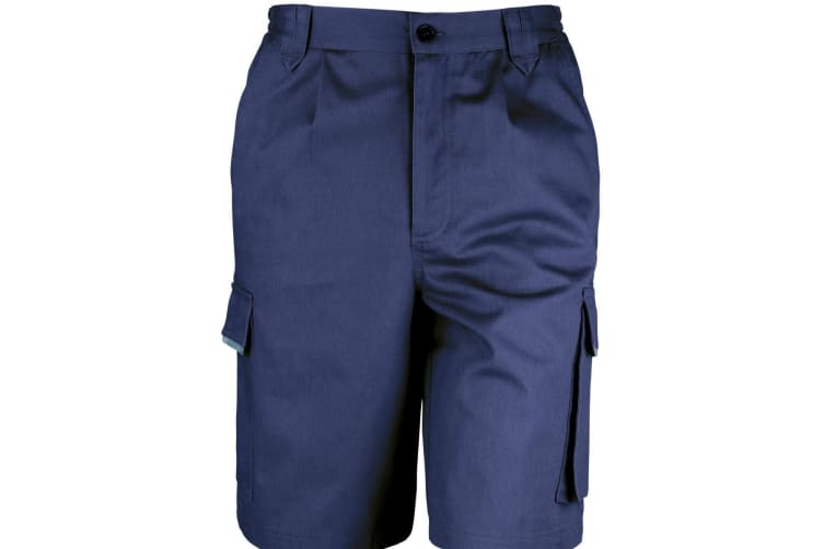 Result Unisex Work-Guard Action Shorts / Workwear (Navy Blue) (3XL)