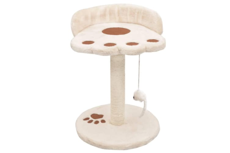 vidaXL Cat Tree with Sisal Scratching Post 40 cm Beige and Brown