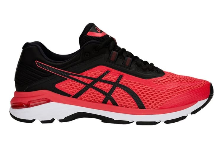 ASICS Men's GT-2000 6 Running Shoe (Red Alert/Black, Size 11.5)
