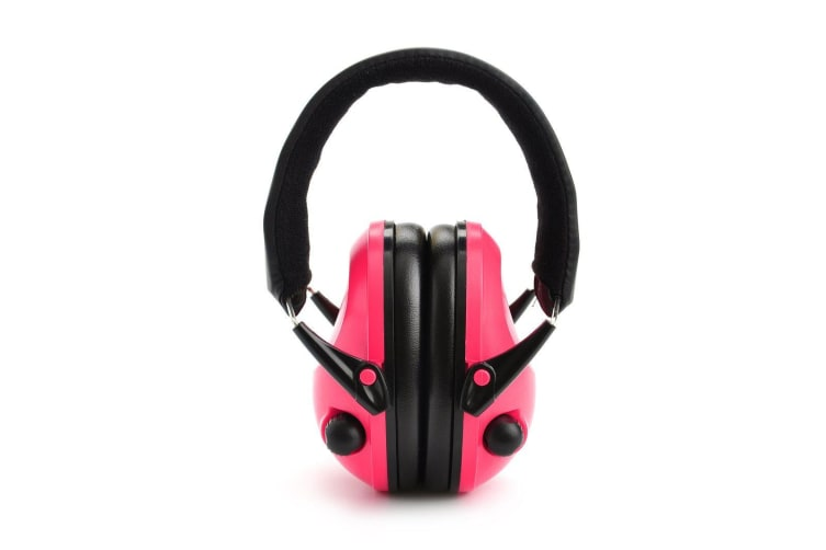 Xhunter Electronic Low Set Compact Protective Earmuffs - Pink