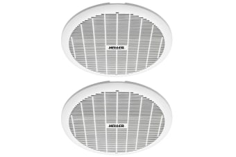 2x Heller 200mm Exhaust Ball Bearing Fan Bathroom Ventilation Ceiling Round WHT