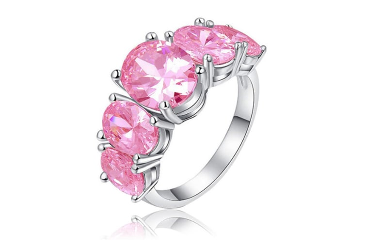 925 Sterling Silver 5cttw Gemstone Filled Ring 6