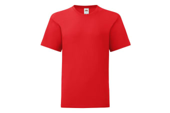 Fruit Of The Loom Childrens/Kids Iconic T-Shirt (Red) (12-13 Years)