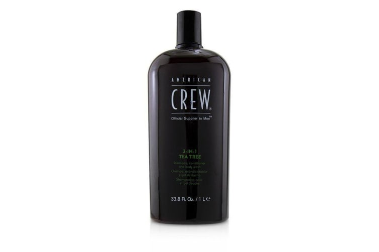 American Crew Men 3-IN-1 Tea Tree Shampoo, Conditioner and Body Wash 1000ml/33.8oz