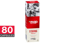 80-Pack Map Coffee Capsules - Strong (8 x 10 Pack)