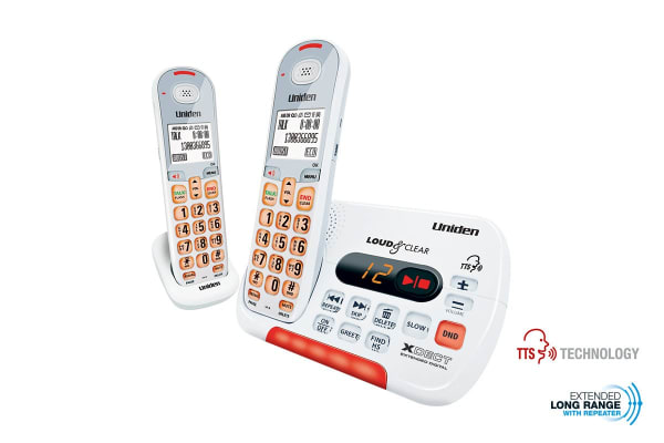 Uniden Visual and Hearing Impaired Cordless Digital Phone System (2 Phones)