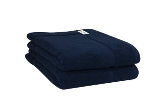 Onkaparinga Haven 600gsm Bath Mat Set of 2 (Navy)