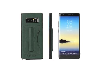 For Samsung Galaxy Note 8 Case Fierre Shann Luxury Protective Cover Navy Green