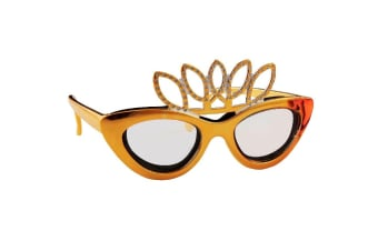 Crown Onion Glasses - Gold