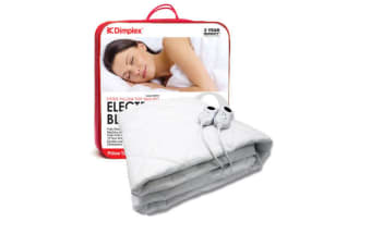 Dimplex King Fitted Electric Blanket Heated Pillow Top Overheat Protection Timer