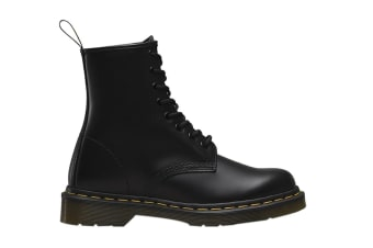 Dr. Martens 1460 Smooth Leather Hi Top Shoe (Black, Size UK 8)