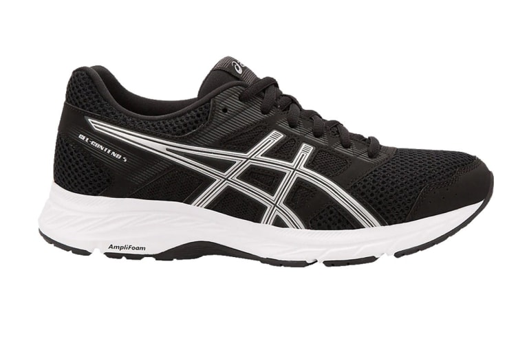 ASICS Women's GEL-Contend 5 Running Shoe (Black/Silver, Size 6.5)
