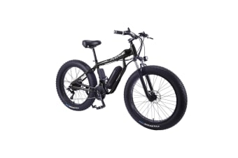 "AKEZ HT 350W 36V Electric Bike Beach eBike Snow Motorized Bicycle Battery 26"" Black"